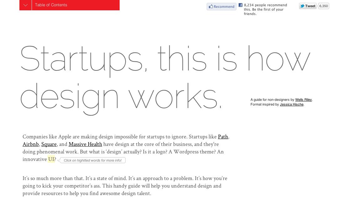 startups design