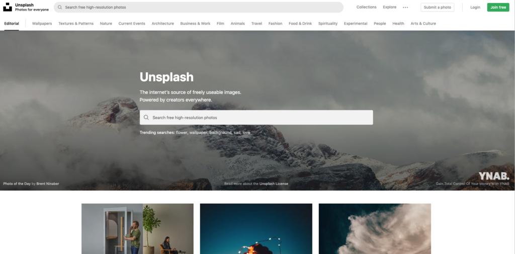 Darmowe zdjęcia świetnej jakosci znajdziesz np. na Unsplash