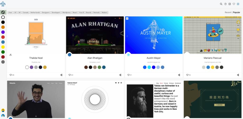 Portfolio i strona About online przykłady