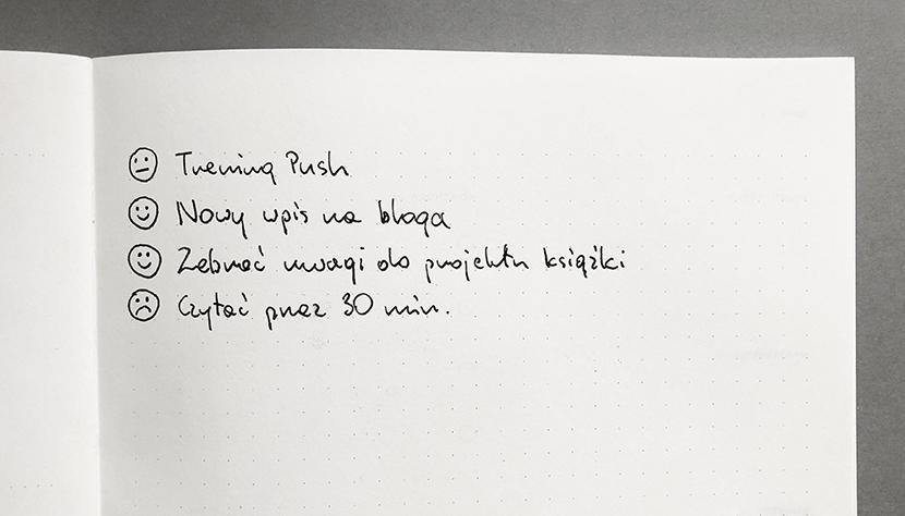 jak szybciej  robić postępy – N/T/S notatnik notes