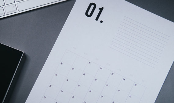 Minimalistyczny kalendarz na2020 – pliki dodruku zadarmo