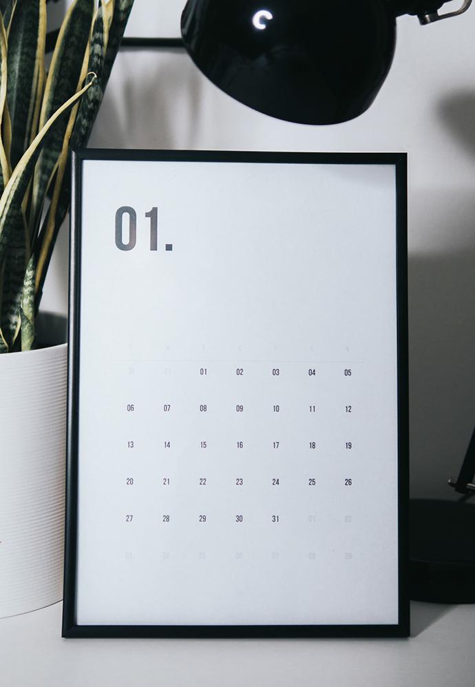 darmowy kalendarz na 2020 do samodzielnego wydrukowania