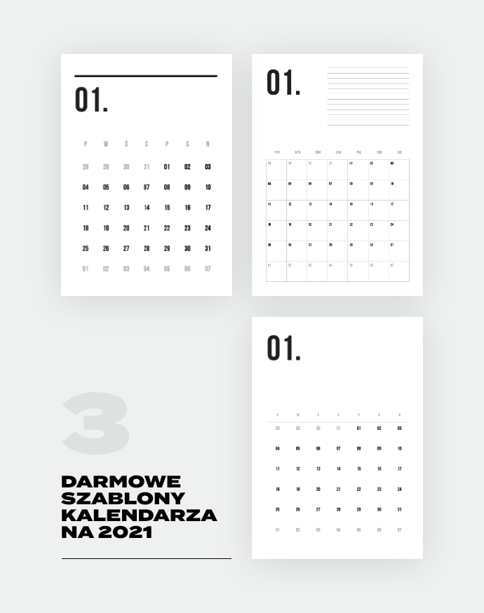 kalendarz 2021 do druku darmowy