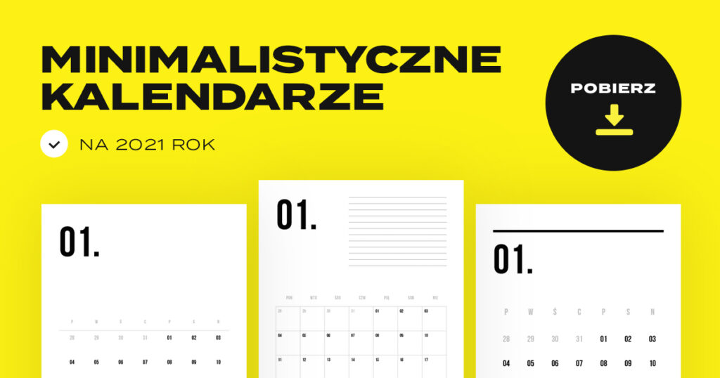 kalendarz 2021 do pobrania i druku za darmo